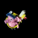 Olli, das Zahnputz-Schwein