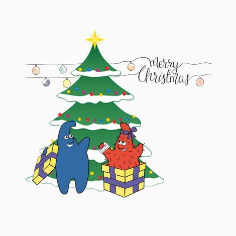 Weihnachtskarte 4 quadrat